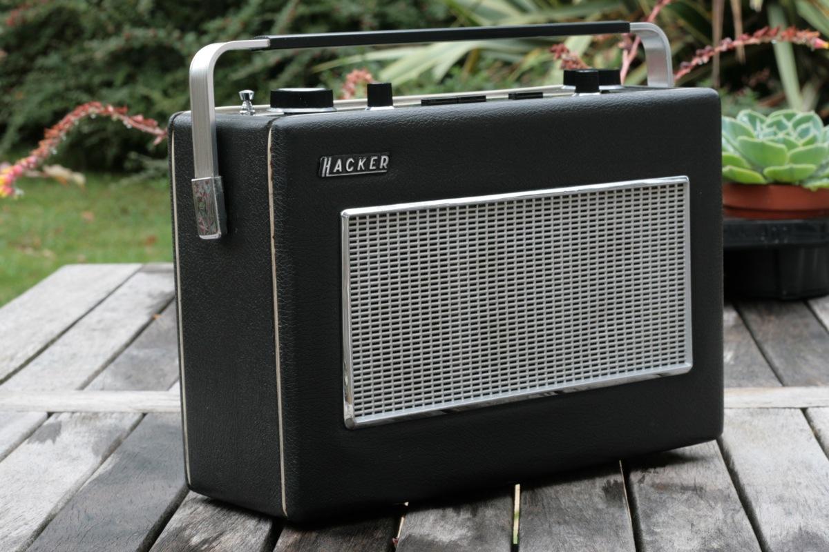 Hacker Sovereign Ii Transistor Radio Retro One Topzoom Topleft Front Backopen Back