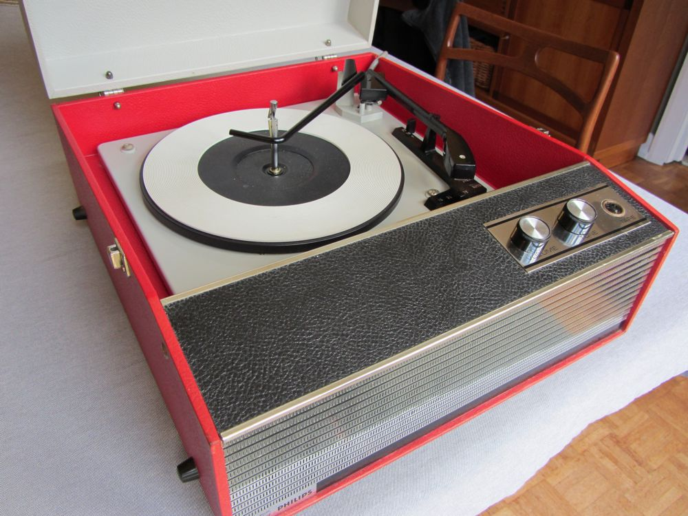how to connect a record player to grundig rtv850