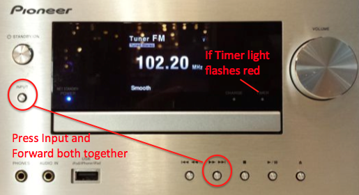 Pioneer X-HM71-S Timer Light Flash Blink Fault - Radio Retro