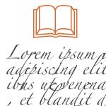 Document Graphic Lipsum and Book