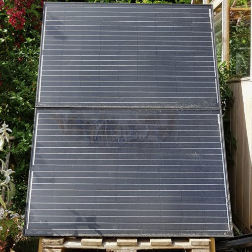 Solar panels installed by glasshouse